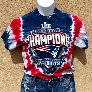 NFL New England Patriots Tie Dye Crop Top